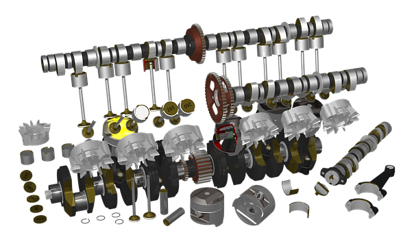 Motorcycle, Engine, Raytracing, Render