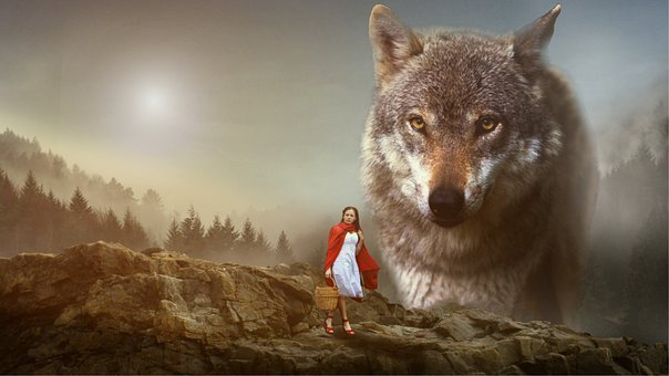 Girl, Red Cap, Wolf