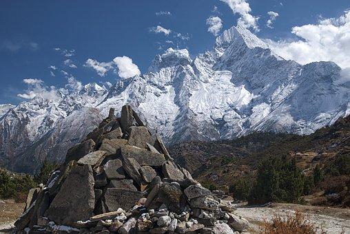 Nepal, Mountaine, Rock, Glacier, Mountain, Himalayas