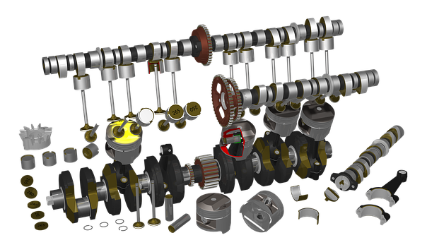 Motorcycle, Engine, Raytracing, Render, Raytrace