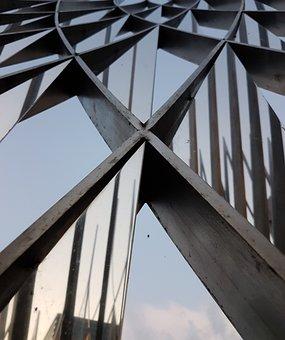 Modern, Sculpture, Architecture, Steel