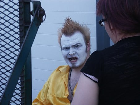 Clown, Makeup, Artist, Face, Entertainment, Creepy