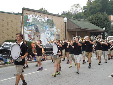 Drums, Parade, Music, Sound, Band, Percussion