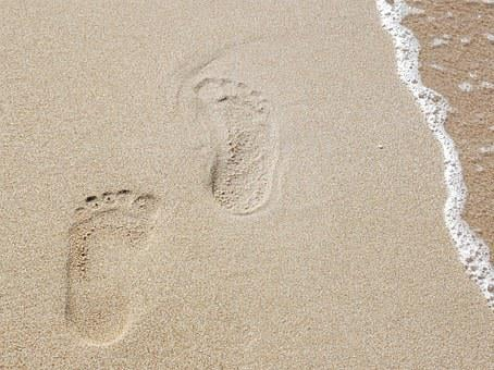 Traces, Sand, Sea, Trace, Beach, Tracks In The Sand