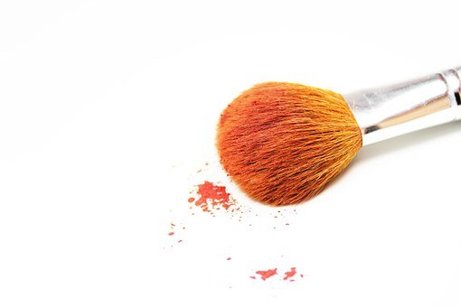 Makeup, Brush, Orange, Isolated, Beauty, Woman