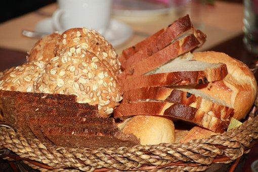 Bread, Breadbasket, Breakfast, Bread Slices
