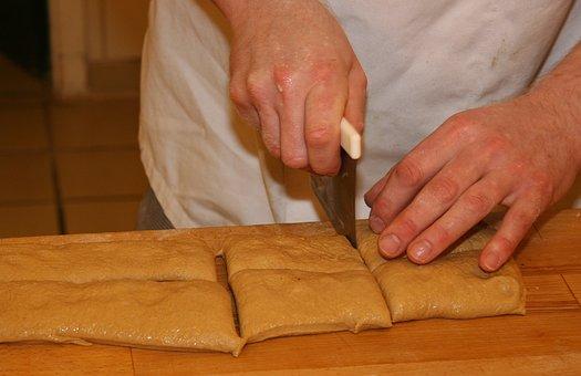 Ciabattastykker, Bread, Italian, Dining, Food, Craft