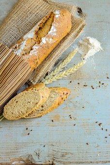 Bread, Artisan, Food, Paper, Rustic, Whole Wheat, Warm