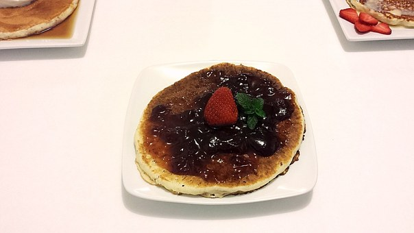 Pancake, Breakfast, Food, Meal, Sweet, Plate, Dessert
