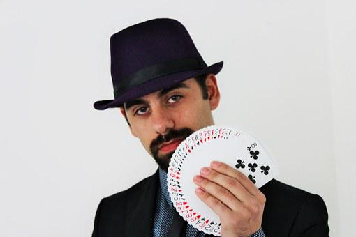 Magician, Magic, Cards, Attention