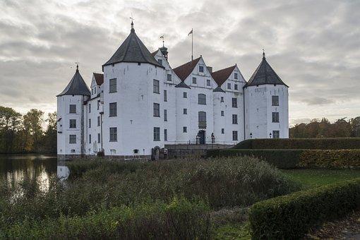 Castle, Moated Castle, Glücksburg, Renaissance