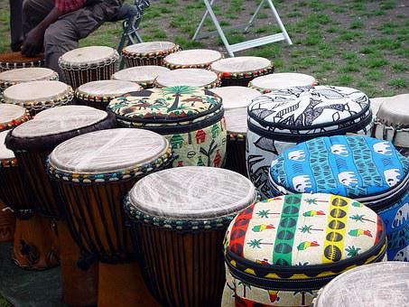 Africa, Drums, Colorful, Culture, Human, Trafition