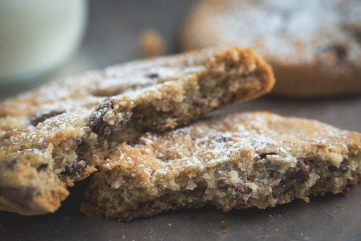 Cookie, Chocolate Nut Cookies, Light Cookies, Food