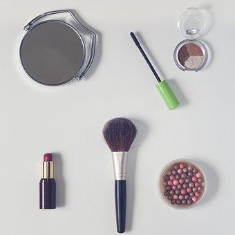 Cosmetics, Powder, Lipstick, Cosmetic Brush