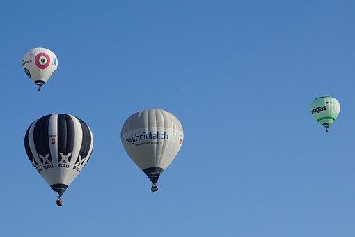 Flugshow, Event, Hot Air Balloon