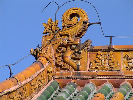 Temple, Palace, Roof, Shenyang, Liaoning, China, Famous