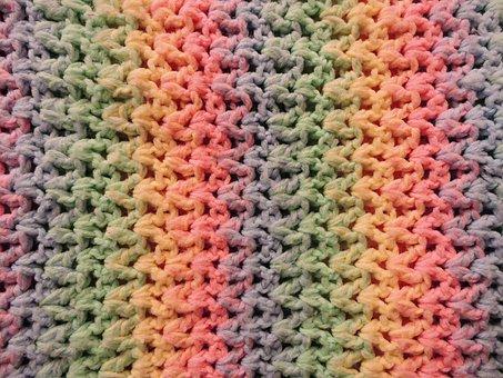 Blanket, Baby, Ombre, Crochet, Rainbow, Gradient