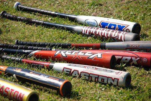 Sports, Baseball, Bat, Store, Grass