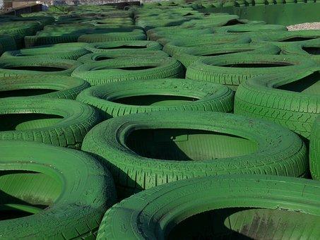 Hockenheim Germany, Tyre Stack, Race Track, Green, Dtm
