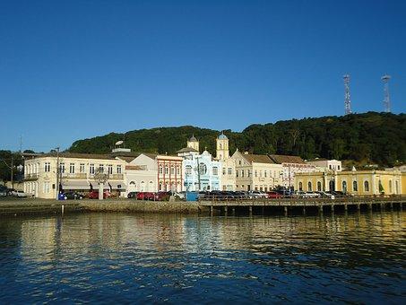 Beach, Litoral, Historic City, Brazil, Santa Catarina