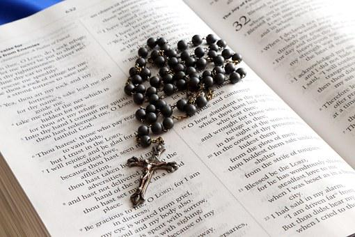 Rosary, Bible, Cross, Book, Christianity, Jesus, Holy