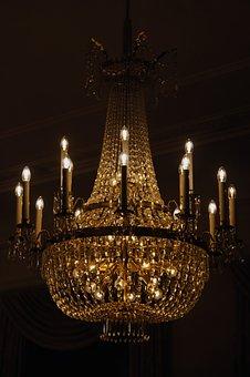 Chandelier, Lamp, Lights, Mood, Lighting, Light