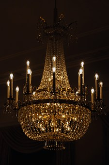 Chandelier, Lamp, Lights, Mood, Lighting, Light