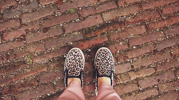 Slipons, Shoes, Feet, Leopard, Style, Fashion, Walk
