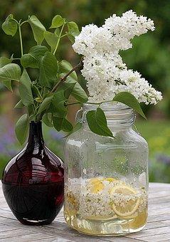 Syrup, Lilac Syrup, Lilac Blossom Syrup, Fliederblueten