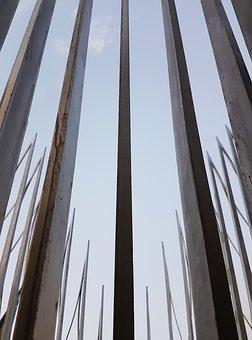Modern, Sculpture, Architecture, Steel, Sword