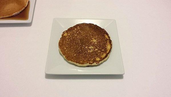 Pancake, Honey, Breakfast, Food, Meal, Sweet, Plate