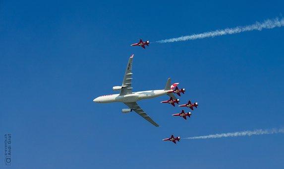 Passenger Aircraft, Fighter Jet, Flugshow
