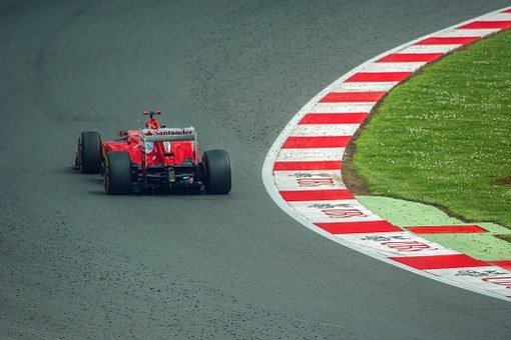 Ferrari, F1, Silverstone, Rubber, Race, Red, Auto