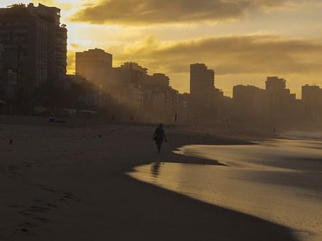 Leblon, Beach, Rio, Janeiro, Ipanema, Ocean, Sea