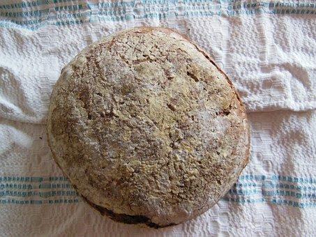 Bread, Loaf, Fresh, Baked, Round, Rye, Sourdough, Crust