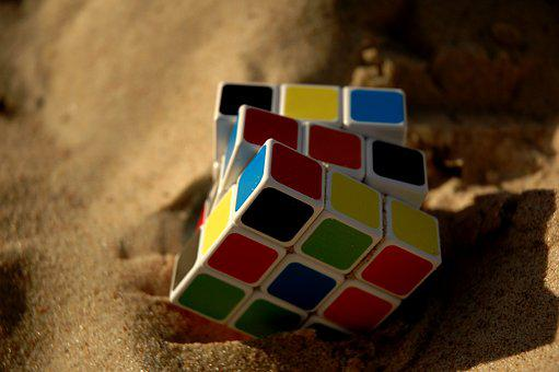 Rubik Cube, Game, Sand, Strategy, Solve, Leisure