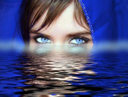 Woman, Eyes, Water, Soul, Psychology, Feelings