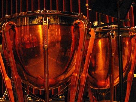 Drums, Brass, Music, Musical, Sound, Instrument