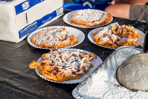 Funnel Cake, Delicious, Food, Dessert, Carnival, Sweet