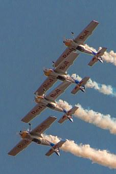 Aircraft, Flugshow, Synchronous, Relay