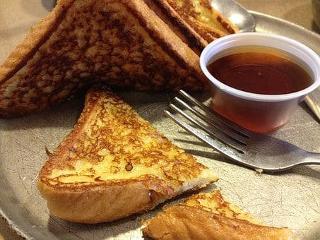 French Toast, Breakfast, Syrup, Food, Bread, Fork, Meal