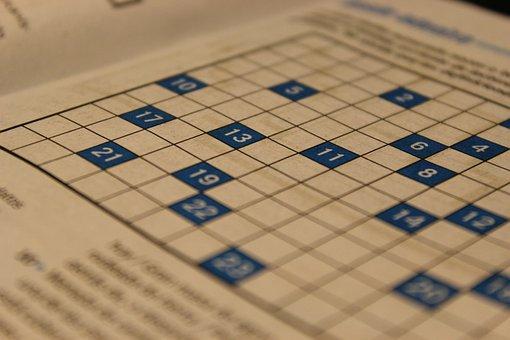 Crossword Puzzle, Games, Paper, Lyrics, Words, Text