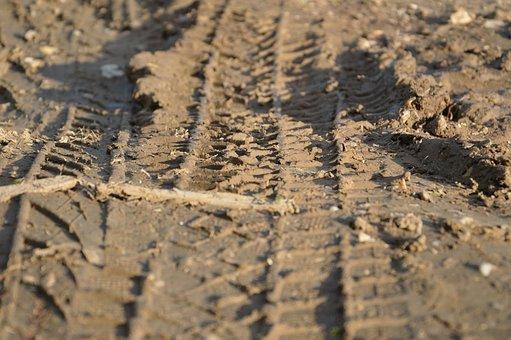 Tire Tracks, Mature, Arable, Profile, Mud