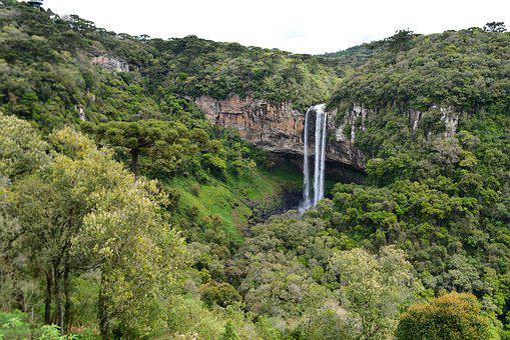 Waterfall, Cascade, Environment, Nature, Brazil