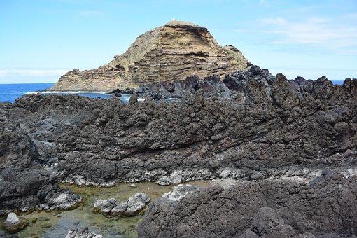 Madeira, Porto Moniz, Atlantic, Lava, Rock, Volcanism