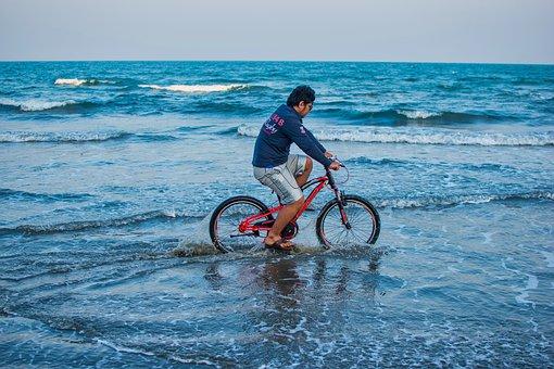 Cycle, Cycling At The Beach, Nature