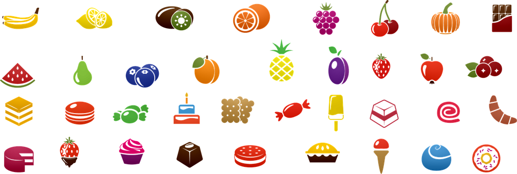 Food Icons, Fruit, Cookie, Sweets, Candy, Food, Icon
