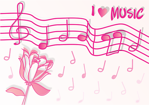 Music, Love, Note, Half Note, Quarter Note, Quarter