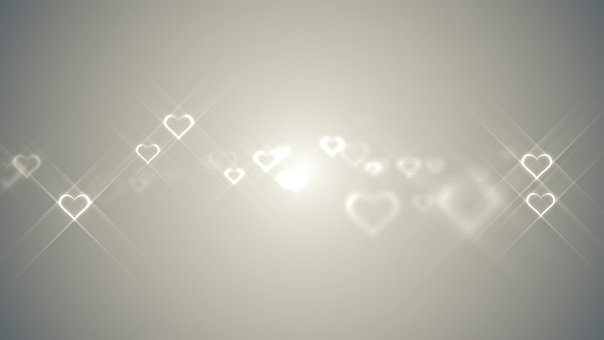 Hearts, Glowing, Romance, Love, Valentines, Couples
