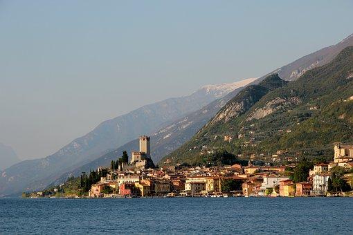 Malcesine, Garda, Italy, Lake, Port